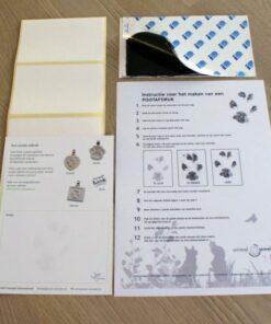 Print kit za Otisak šape Print box
